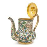 Russian Cloisonné Enamel Teapot