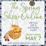 graphic with ALVR gold bird earring for promoting AADLA Spring Show Online