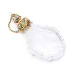other side, Antique French Rock Crystal Perfume Bottle