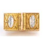 top view, Antique Gold Basket Charm Pendant