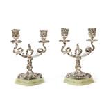 Fabergé Silver Candelabra