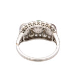back, Edwardian Natural Pearl and Diamond Cluster Ring
