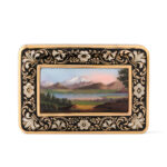 top view, Swiss Gold and Enamel Patch Box