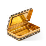 interior view, Swiss Gold and Enamel Patch Box