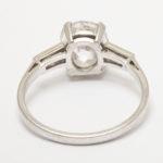 back, Edwardian Old Mine Cushion Cut Diamond Engagement Ring