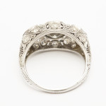 Antique Ring of Three Colored Diamonds