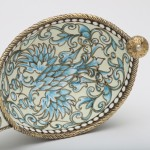 Russian Antique Cloisonné Enamel Kovsh, interior