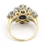 back view, Antique Sapphire and Diamond Quatrefoil Ring