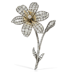 Victorian Old-mine Diamond Lily Brooch