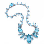 main view, 1950s Aquamarine and Diamond Necklace