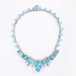 other view, 1950s Aquamarine and Diamond Necklace