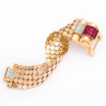 main view, Mauboussin Ruby, Diamond and Gold Bracelet