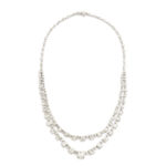 full view, Art Deco Diamond Necklace