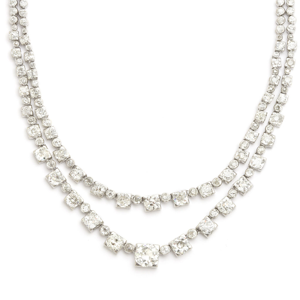 detail view, Art Deco Diamond Necklace