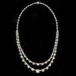 black background, Art Deco Diamond Necklace