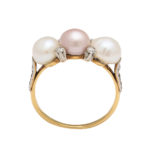 additional view, Antique Natural Pearl and Diamond Ring