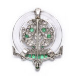 back view, Vintage 1930s Jardiniere Brooch