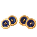 Gold and Lapis Dress Set, cufflink view