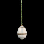 view with black background, Faberge Egg-form Hanging Bell Push