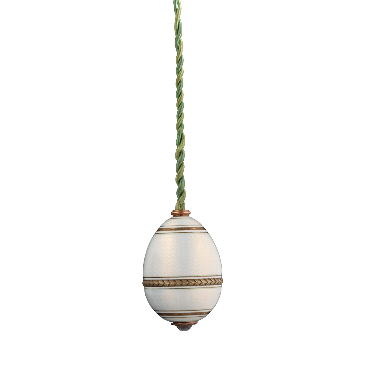 main view, Faberge Egg-form Hanging Bell Push