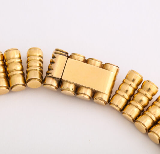 clasp detail, 18kt Gold 1950s Bamboo-form Fringe Necklace