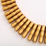 detail, 18kt Gold 1950s Bamboo-form Fringe Necklace