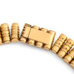 back detail, 18kt Gold 1950s Bamboo-form Fringe Necklace