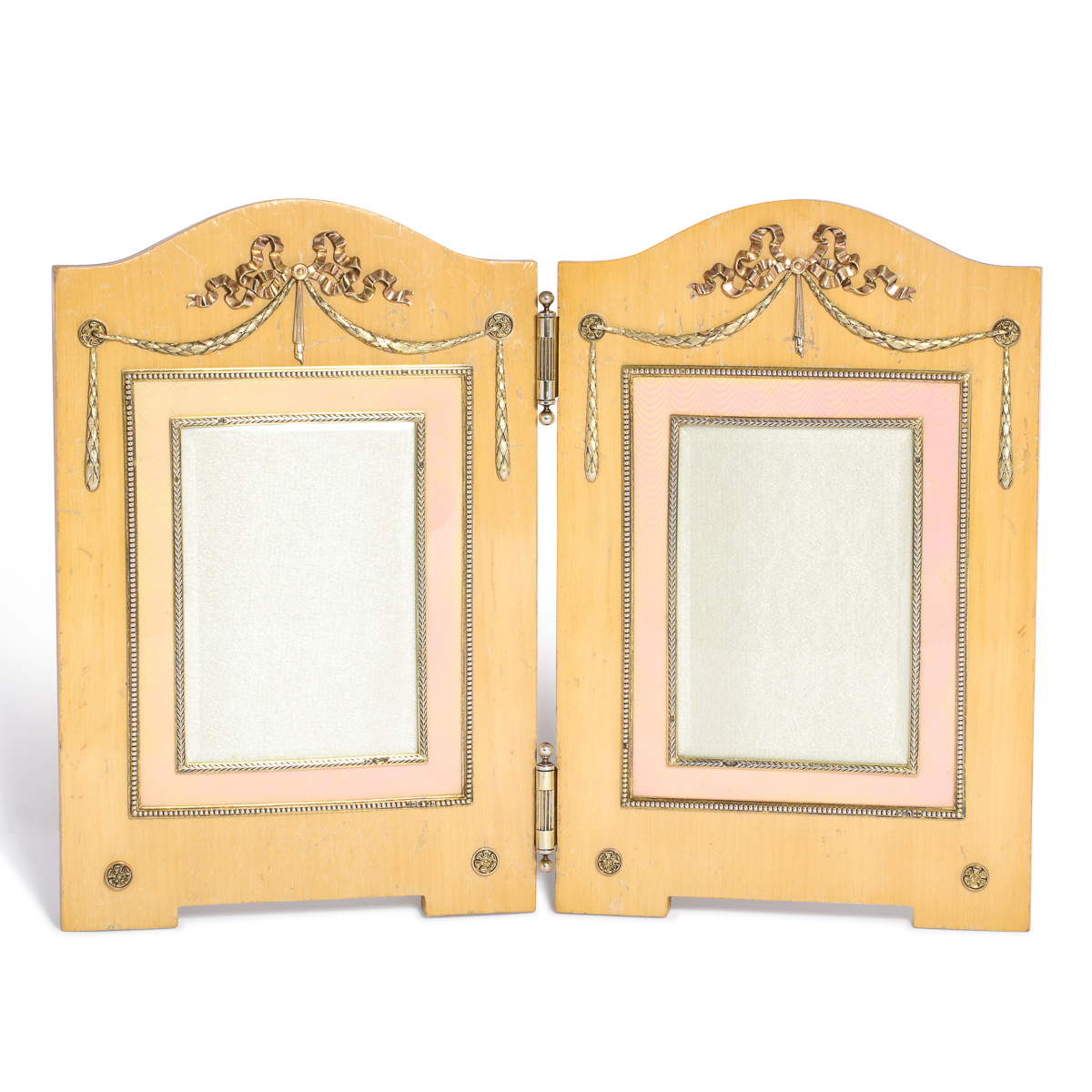 main view, Fabergé Enamel and Holly Wood Double Frame
