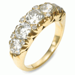 Victorian Old-mine Diamond Five-stone Ring