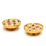 additional view of Antique Russian Pearl, Ruby, and Diamond Cufflinks