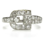 main view, Cartier Diamond Buckle Ring