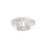 front view, Cartier Diamond Buckle Ring