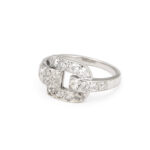 other view, Cartier Diamond Buckle Ring