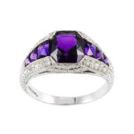 main view, Edwardian Amethyst and Diamond Ring