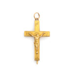 front view, Antique Russian Crucifix Pendant