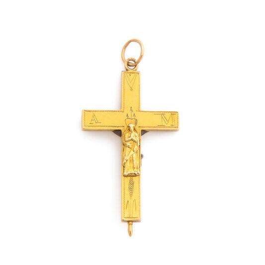 back view, Antique Russian Crucifix Pendant