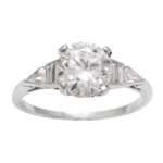 main view, Antique Diamond Engagement Ring