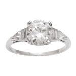 main view, Antique Diamond Engagement Ring