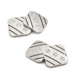 Art Deco Diamond and Platinum Cufflinks