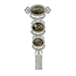 Edwardian Jeweled Japonisme Corsage Pendant Brooch