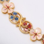 Gothic revival gold and enamel necklace - detail