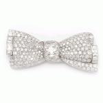 Pavé Diamond Bow Brooch