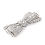 other view, Pavé Diamond Bow Brooch