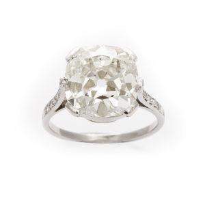 1920s Cushion Diamond Ring