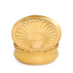 other view, Oval Gold Box with Shell Design