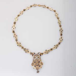 Enamel and Diamond Necklace - view of back