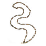 main view, Antique Swiss Enamel Chain Necklace