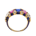 side view, Victorian Jeweled and Enamel Ring