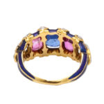 back view, Victorian Jeweled and Enamel Ring