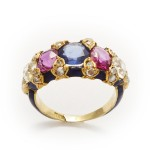 Victorian Jeweled and Enamel Ring